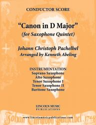Cover art for Pachelbel - Canon in D Major (for Saxophone Quintet SATTB)