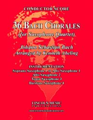 Cover art for Bach - Four-Part Chorales (36 in set) (Sax Quartet SATB or AATB)