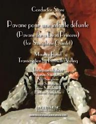 Cover art for Baritone Sax part from Ravel - Pavane for a Dead Princess (Saxophone Quintet SATTB)