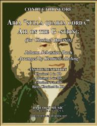 "Cover art for Clarinet 2 in Bb part from Bach - Aria ""sulla quarta corda"" - ""Air on the G-String"" (Clarinet Quartet)"