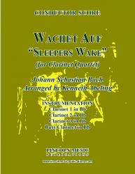 "Cover art for Clarinet 1 in Bb part from Bach - Wachet Auf -  ""Sleepers Wake"" (Clarinet Quartet)"