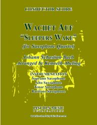 "Cover art for Alto Saxophone part from Bach - Wachet Auf -  ""Sleepers Wake"" (Saxophone Quartet SATB)"