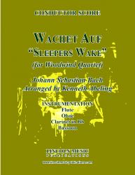 "Cover art for Clarinet 1 in Bb part from Bach - Wachet Auf -  ""Sleepers Wake"" (Woodwind Quartet)"