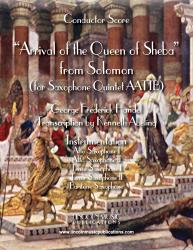 Cover art for Alto Saxophone II part from Handel - Arrival of the Queen of Sheba – from Solomon (for Saxophone Quintet AATTB)