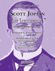 Cover art for Soprano Saxophone part from Joplin - Elite Syncopations (for Saxophone Quartet SATB)