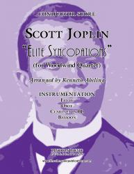 Cover art for Clarinet in Bb part from Joplin - Elite Syncopations (for Woodwind Quartet)