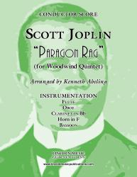 Cover art for Horn in F part from Joplin - Paragon Rag (for Woodwind Quintet)