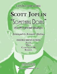Cover art for Clarinet in Bb part from Joplin - Something Doing (for Woodwind Quartet)