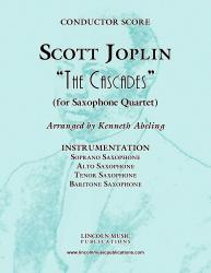 Cover art for Soprano Saxophone part from Joplin - The Cascades (for Saxophone Quartet SATB)