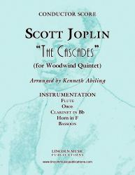 Cover art for Oboe part from Joplin - The Cascades (for Woodwind Quintet)