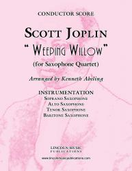 Cover art for Joplin - Weeping Willow (for Saxophone Quartet SATB)
