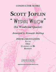 Cover art for Oboe part from Joplin - Weeping Willow (for Woodwind Quartet)