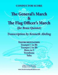 Cover art for Horn in F part from March - The General's & Flag Officer's Marches (for Brass Quintet)