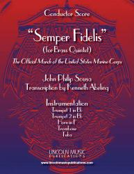 Cover art for 2nd Trumpet in Bb part from March - Semper Fidelis (Brass Quintet)