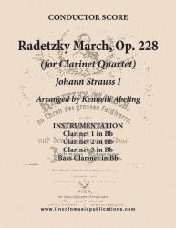 Cover art for Clarinet 3 in Bb part from March - Radetzky March, Op. 228 (Clarinet Quartet)