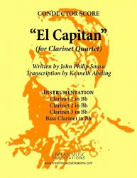 Cover art for Bass Clarinet in Bb part from March - El Capitan (Clarinet Quartet)