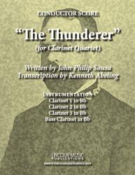 Cover art for Clarinet 3 in Bb part from March - The Thunderer (Clarinet Quartet)