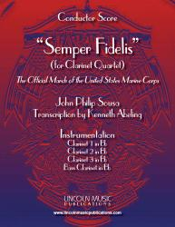 Cover art for Clarinet 3 in Bb part from March - Semper Fidelis (Clarinet Quartet)