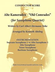 "Cover art for Soprano Sax 1 part from March - Alte Kameraden ""Old Comrades"" (Sax Quartet SATB or AATB)"