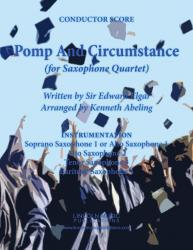 Cover art for Baritone Sax 4 part from March - Pomp and Circumstance (Sax Quartet SATB or AATB)