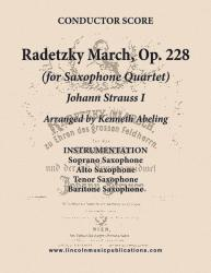Cover art for Tenor Saxophone part from March - Radetzky - March, Op. 228 (Sax Quartet SATB)