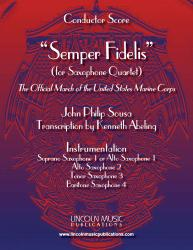 Cover art for Soprano Sax 1 part from March - Semper Fidelis (Sax Quartet SATB AATB)
