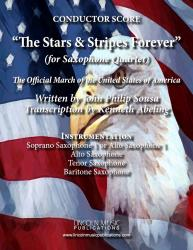 Cover art for Baritone Sax 4 part from March - The Stars & Stripes Forever (Sax Quartet SATB or AATB)