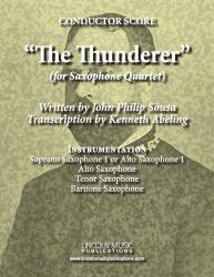 Cover art for Baritone Sax 4 part from March - The Thunderer (Sax Quartet SATB or AATB)