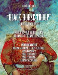 Cover art for Tenor Sax 3 part from March - Black Horse Troop (for Saxophone Quintet SATTB or AATTB)