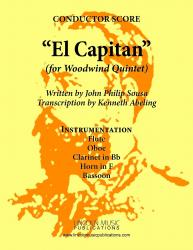 Cover art for Oboe part from March - El Capitan (Woodwind Quintet)