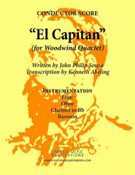 Cover art for Oboe part from March - El Capitan (Woodwind Quartet)