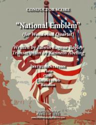 Cover art for Flute part from March - National Emblem (Woodwind Quartet)