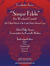 Cover art for Clarinet in Bb part from March - Semper Fidelis (Woodwind Quintet)