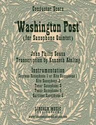 Cover art for March - Washington Post (for Saxophone Quintet SATTB or AATTB)