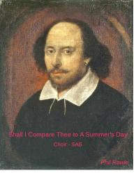 Cover art for BASS part from Shall I Compare Thee To A Summer's Day? -  Choir (SAB)