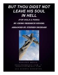 Cover art for But Thou Didst Not Leave His Soul In Hell (for Viola & Piano)