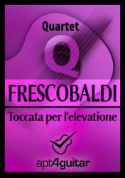 Cover art for Guitar 4 part from Toccata per l'elevatione for guitar quartet