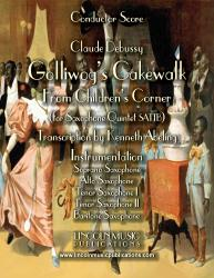 Cover art for Tenor Saxophone II part from Debussy - Golliwog's Cakewalk from Children's Corner (for Saxophone Quintet SATTB)