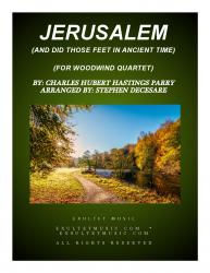 Cover art for jw4a part from Jerusalem (for Woodwind Quartet)