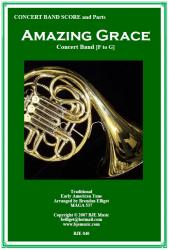 Cover art for Horns 2 and 3 in Eb part from Amazing Grace - Concert Band