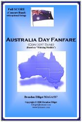 Cover art for Violin 1 (Optional) part from Australia Day Fanfare - Concert Band (with optional Strings)
