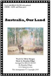 Cover art for Solo Cornet part from Australia, Our Land (Revised 2006) - Vocal with Brass Band