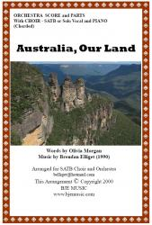 Cover art for F Horn 1 part from Australia Our Land - SATB Choir and Orchestra