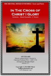 Cover art for Alto Saxophone part from In The Cross of Christ I Glory (STUTTGART) 5 Verses