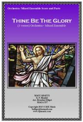 Cover art for Trombone 1 part from Thine Be The Glory ( MACCABAEUS) - Mixed Ensemble
