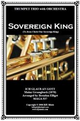 Cover art for Glockenspiel part from Sovereign King (To Jesus Christ Our Sovereign King) - 3 Trumpets and Orchestra (Version 2)