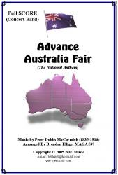 Cover art for Violin II part from Advance Australia Fair (The National Anthem) - Concert Band with optional strings