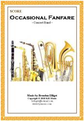 Cover art for Trumpet 1 in B^b part from Occasional Fanfare - Concert Band
