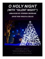 "Cover art for 1sda part from O Holy Night (with ""Silent Night"" - Duet for Violin & Cello)"
