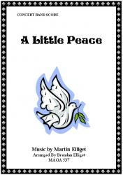 Cover art for String Bass (Bass Guitar) part from A Little Peace (Concert Band Version)